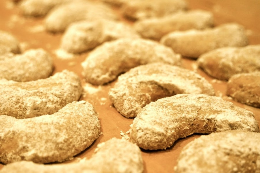Almond-Cardamom Crescents