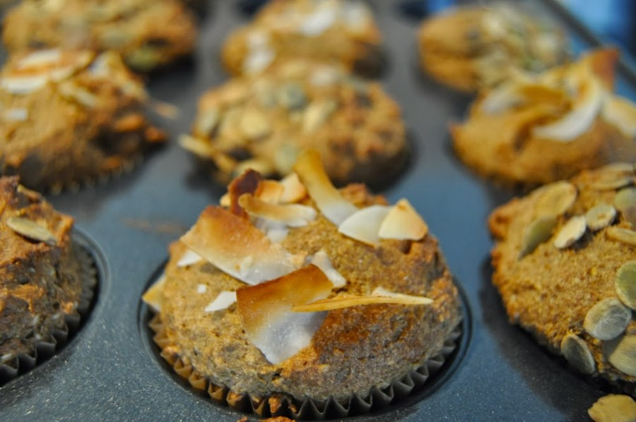 Loaded Pumpkin-Coconut Muffins