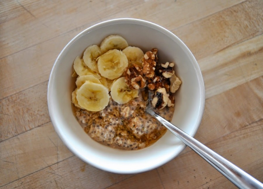 Chia Banana Bread Overnight Oatmeal