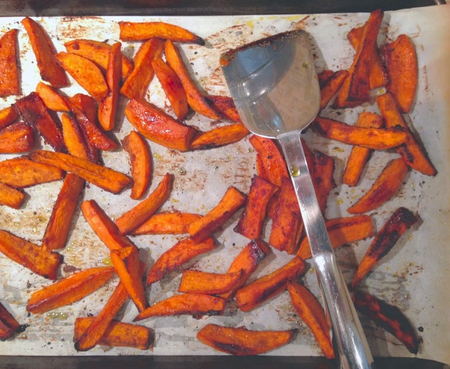 Spice Crusted Sweet Potatoes