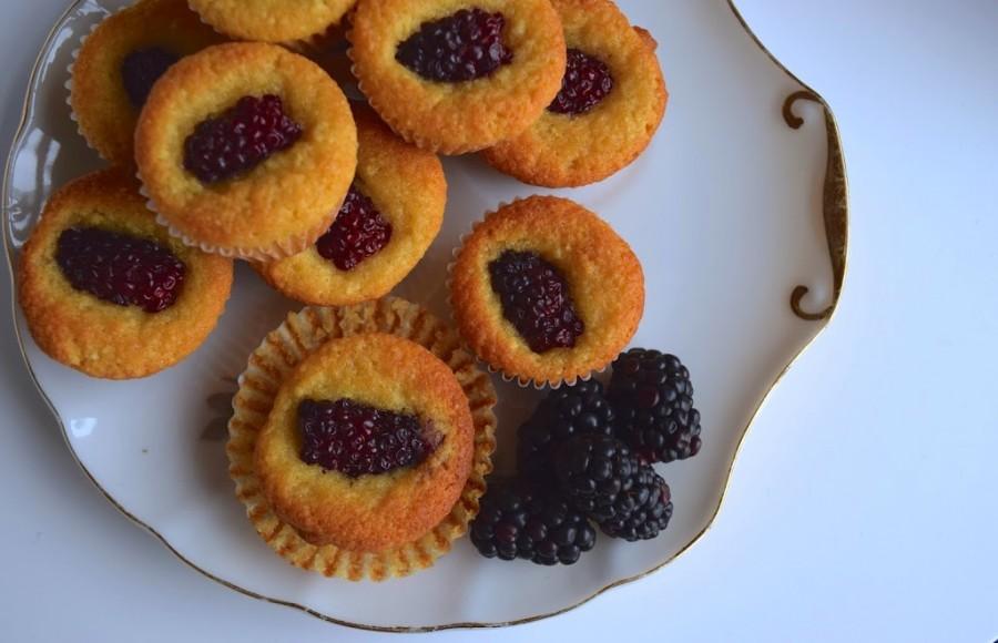 Almond Blackberry Muffins