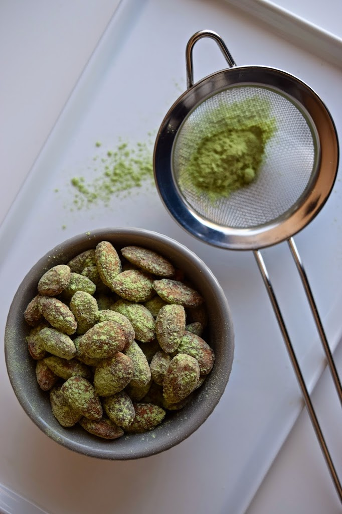 Matcha Maple Almonds (or Pumpkin Seeds!)