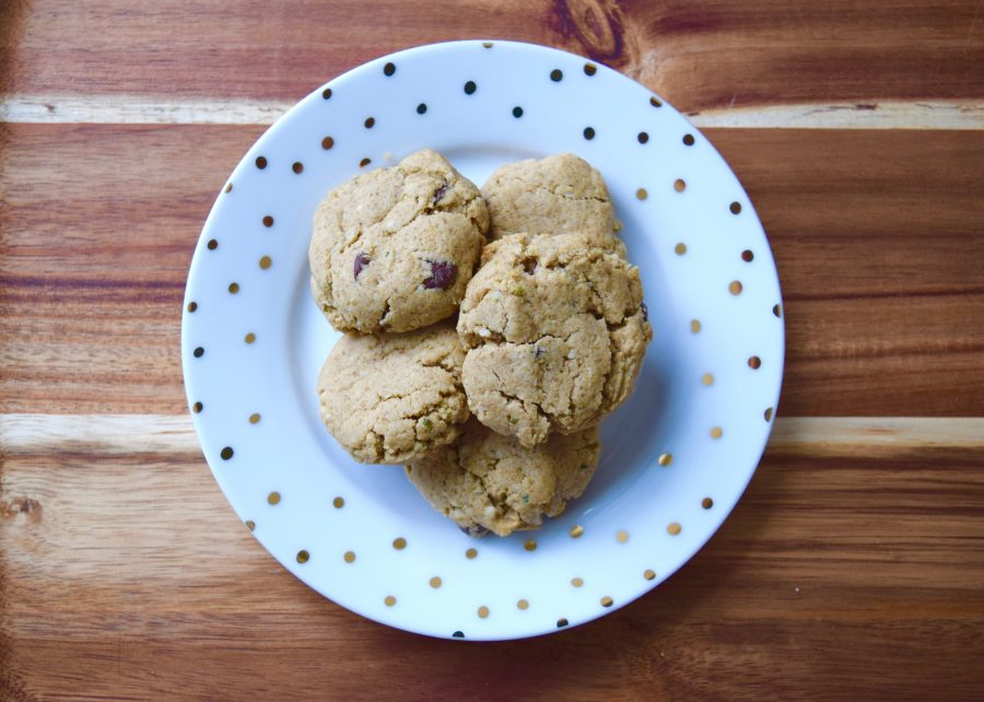 Dark Chocolate, Almond Butter and Hempseed Cookies