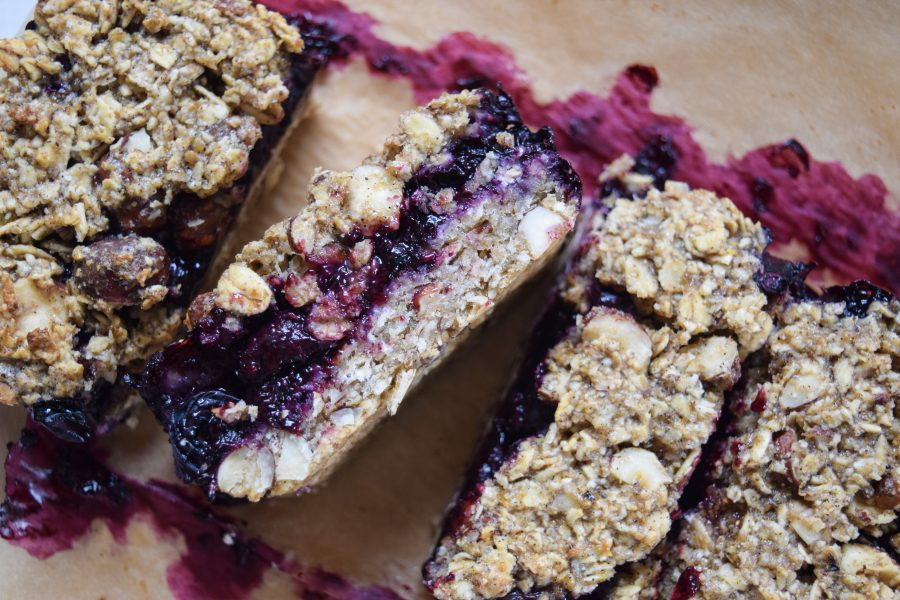 Blueberry Oat Snack Bars