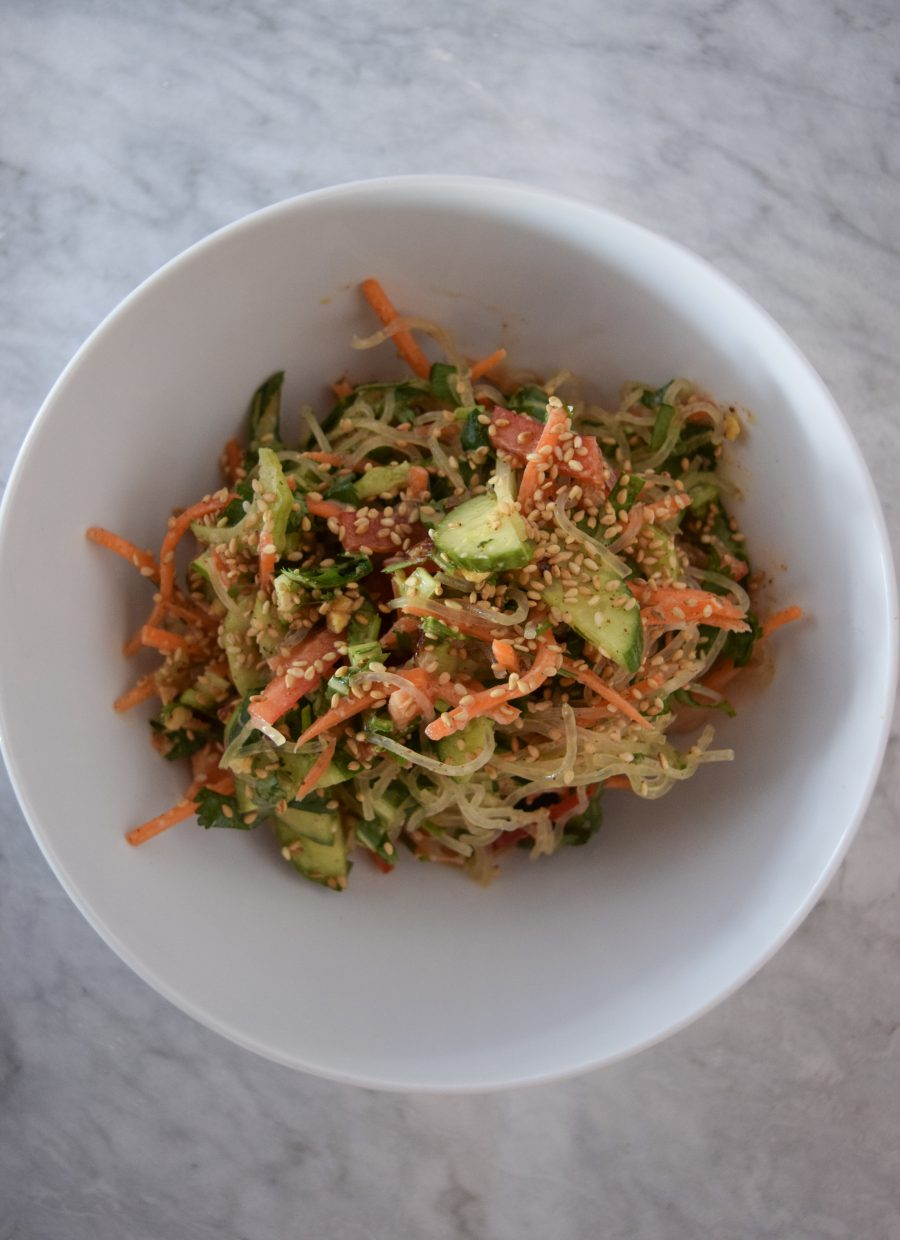 Asian Kelp Noodle Bowl