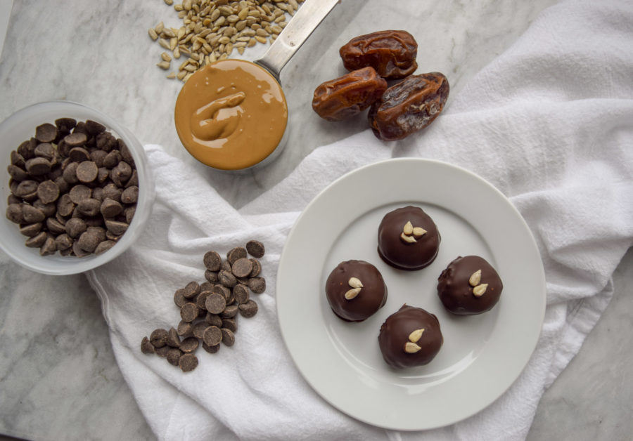 Sunflower Seed Butter-Date Truffles