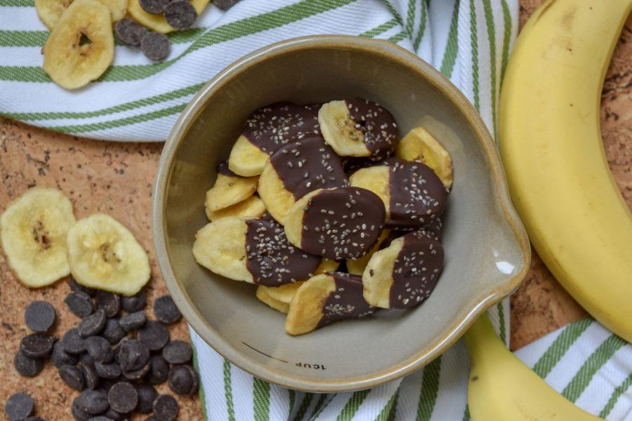 Dark Chocolate Dipped Banana Chips