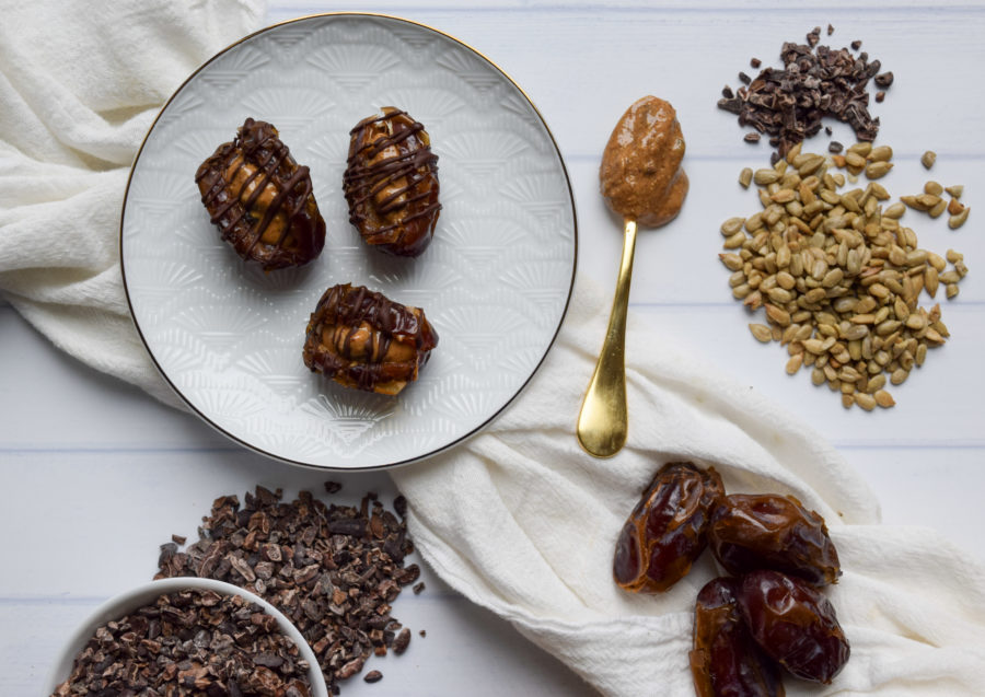 Sunbutter Stuffed Medjool Dates