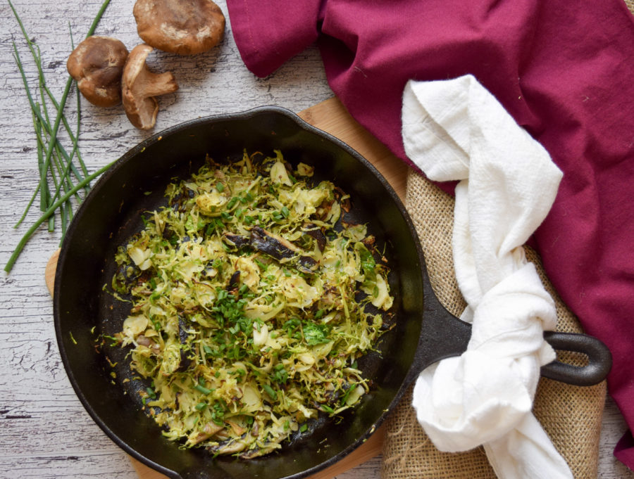 Shiitake Sauteed Brussels Sprouts