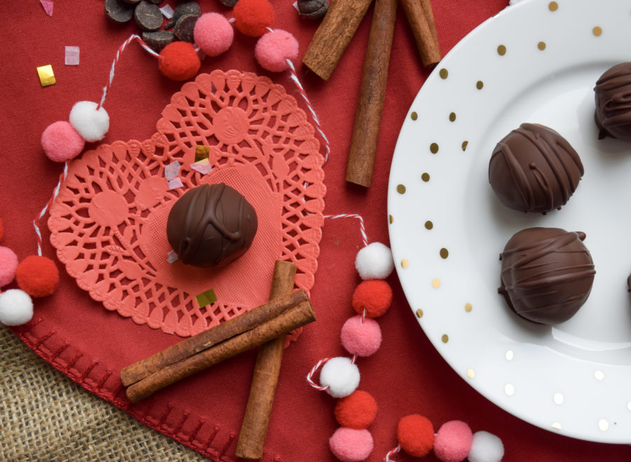 Cinnamon Spiced Chocolate Cake Balls