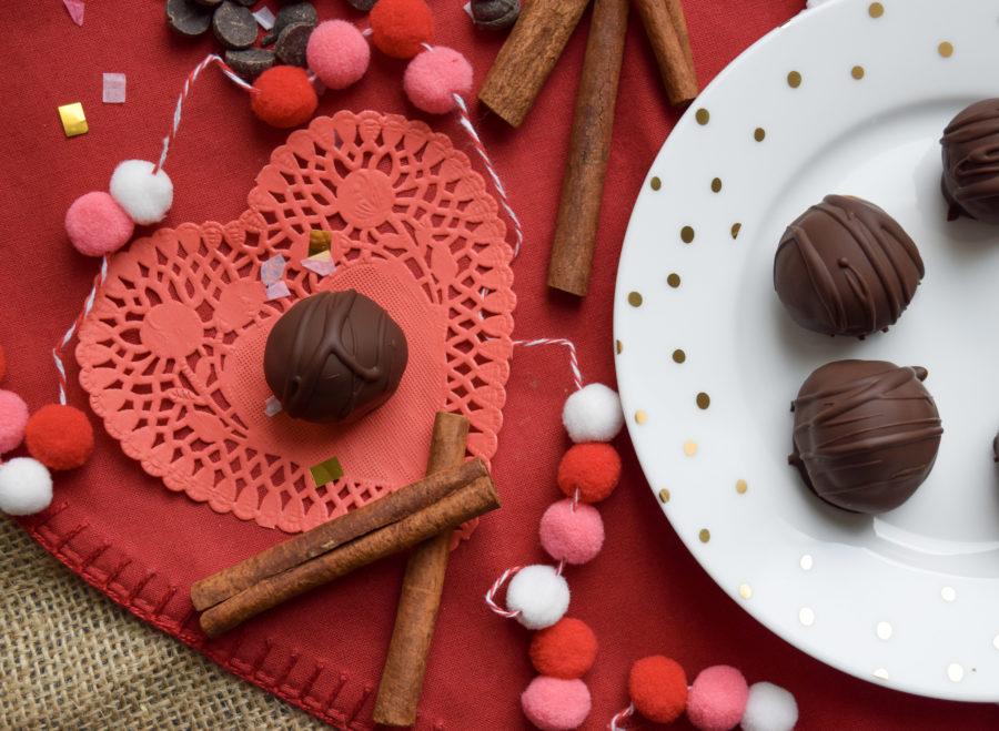 Cinnamon Spiced Chocolate Cake Balls