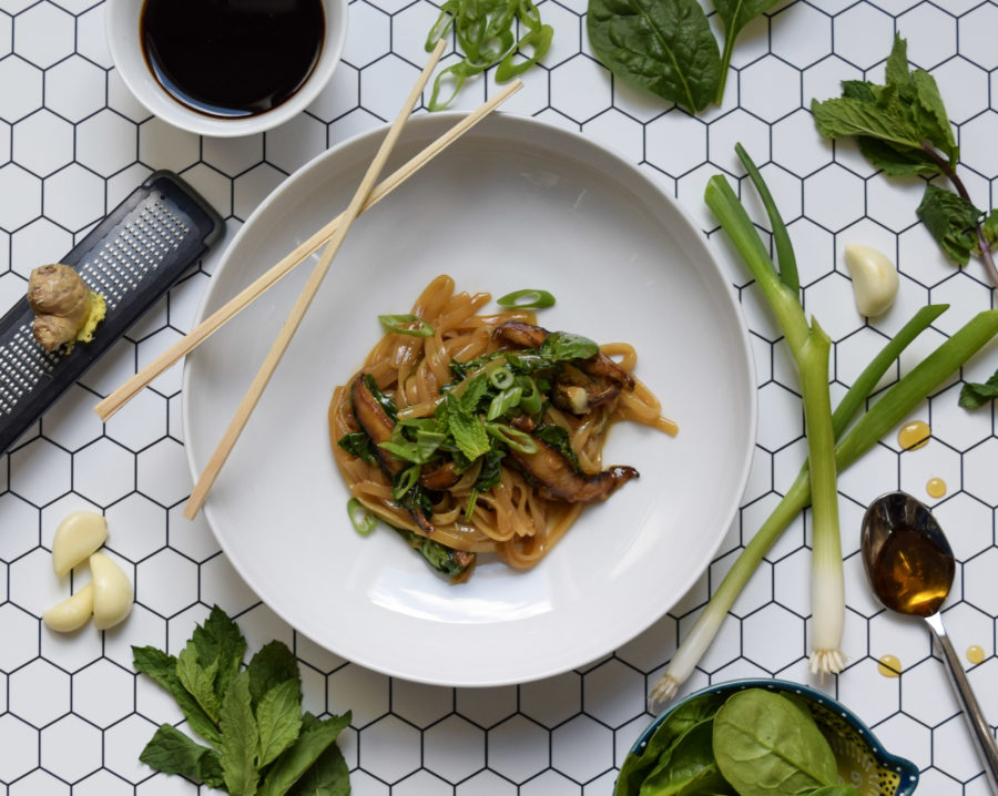 Quarantine Kitchen Series: Ginger-Scallion Noodles