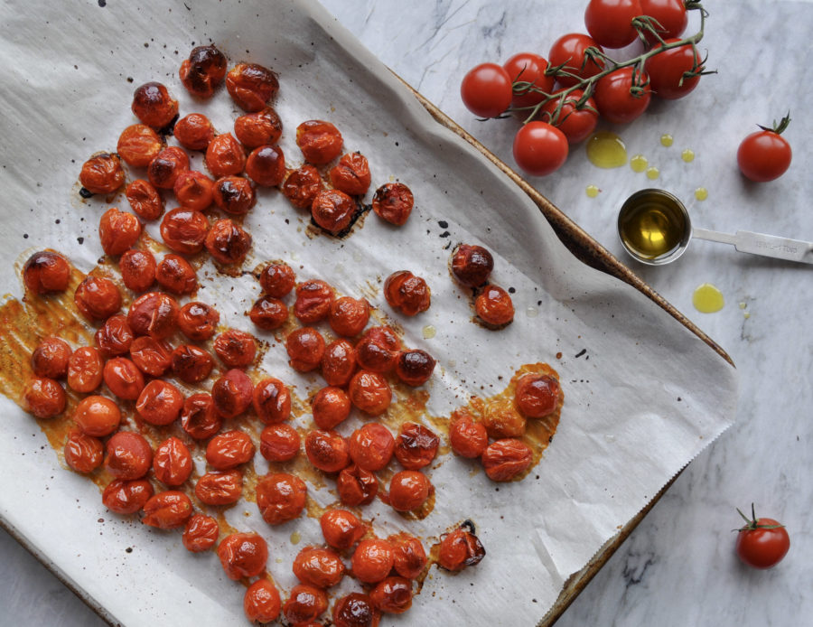 Quarantine Kitchen: Olive Oil Roasted Grape Tomatoes