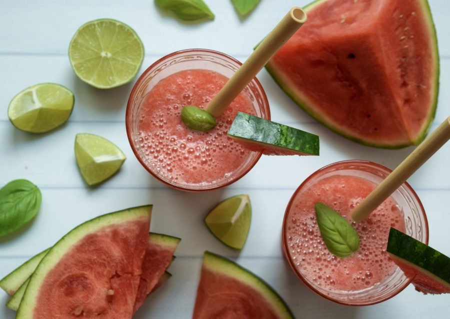 Watermelon-Basil Margaritas!