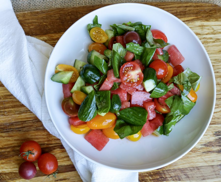 Tomato-Watermelon Summer Salad