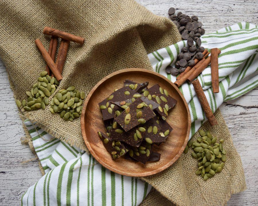 Cinnamon Spiced Chocolate Bark
